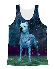 Dogo Argentino in the magic world 1806D All-over Unisex Tank front