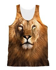 Lion Face 1406 All-over Unisex Tank front