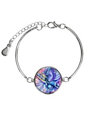 Colorful butterfly Metallic Circle Bracelet thumbnail