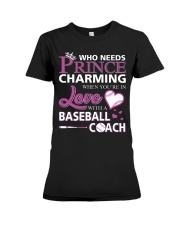 MY LOVE IS BASEBALL COACH :D :D Premium Fit Ladies Tee thumbnail