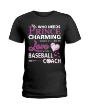 MY LOVE IS BASEBALL COACH :D :D Ladies T-Shirt front