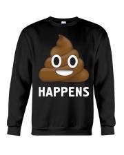 Poop Emoji Shit Happens Funny Crewneck Sweatshirt thumbnail