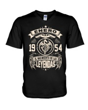 Enero 1954 V-Neck T-Shirt tile
