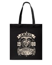 Abril 1988 Tote Bag thumbnail