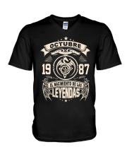 Octubre 1987 V-Neck T-Shirt thumbnail