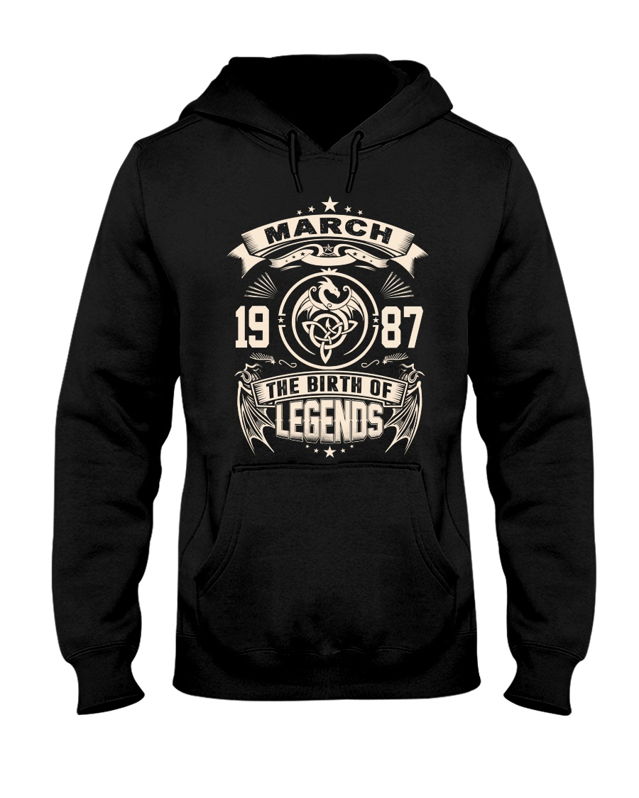 March 1987 Hooded Sweatshirt