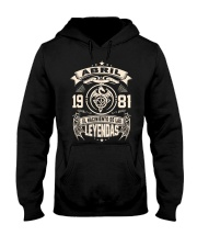 Abril 1981 Hooded Sweatshirt front