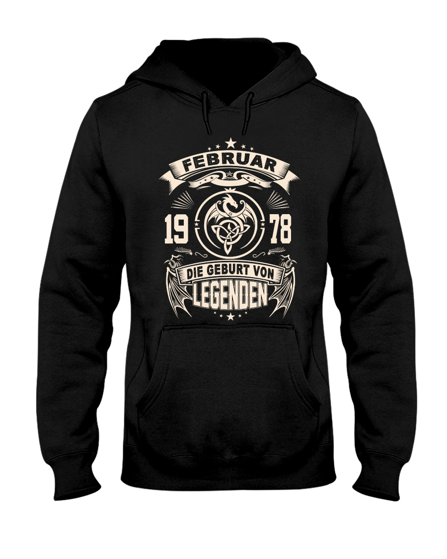Februar 1978 Hooded Sweatshirt
