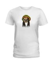Rasta Pug Ladies T-Shirt thumbnail
