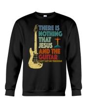 Jesus and Guitar Crewneck Sweatshirt thumbnail