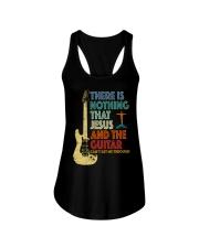 Jesus and Guitar Ladies Flowy Tank thumbnail