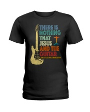 Jesus and Guitar Ladies T-Shirt thumbnail