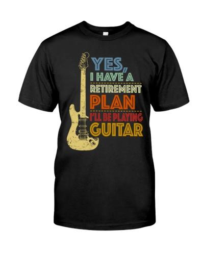 Retirement Plan Playing Guitar