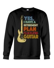 Retirement Plan Playing Guitar Crewneck Sweatshirt thumbnail