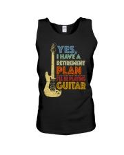 Retirement Plan Playing Guitar Unisex Tank thumbnail