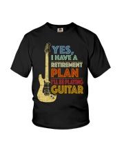 Retirement Plan Playing Guitar Youth T-Shirt thumbnail