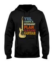 Retirement Plan Playing Guitar Hooded Sweatshirt thumbnail