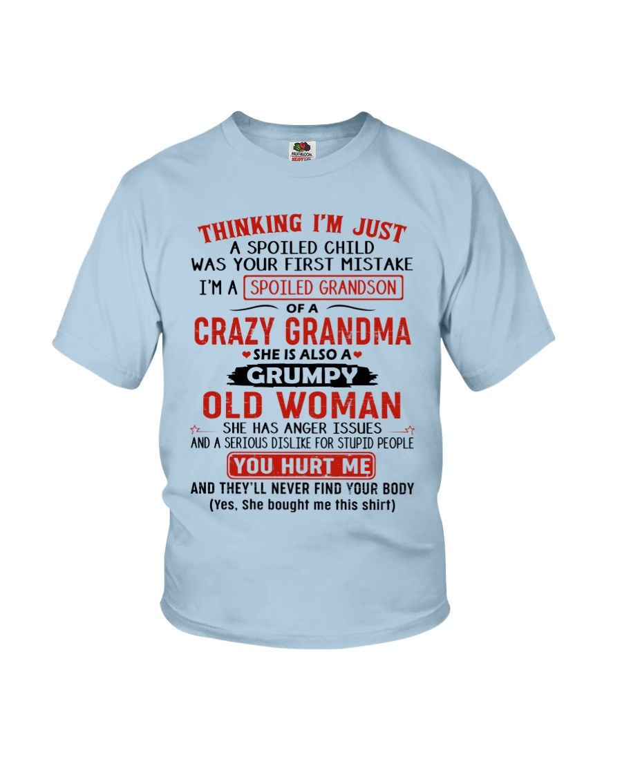 Grandma - Grandson Youth T-Shirt