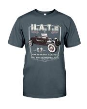 FastLane H A T E Rod Classic T-Shirt front