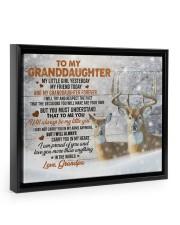 I AM PROUD OF YOU - LOVELY GIFT FOR GRANDDAUGHTER Floating Framed Canvas Prints Black tile