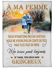"À MA FEMME Large Fleece Blanket - 60"" x 80"" front"