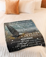"""YOU CAN'T WITHSTAND THE STORM Small Fleece Blanket - 30"""" x 40"""" aos-coral-fleece-blanket-30x40-lifestyle-front-01"""
