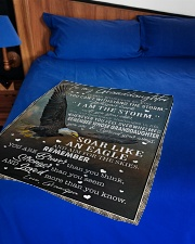 """YOU CAN'T WITHSTAND THE STORM Small Fleece Blanket - 30"""" x 40"""" aos-coral-fleece-blanket-30x40-lifestyle-front-02"""