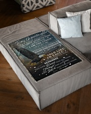 """YOU CAN'T WITHSTAND THE STORM Small Fleece Blanket - 30"""" x 40"""" aos-coral-fleece-blanket-30x40-lifestyle-front-03"""