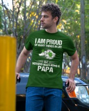 NOTHING BEATS BEING A PAPA Classic T-Shirt apparel-classic-tshirt-lifestyle-front-44