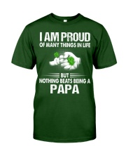 NOTHING BEATS BEING A PAPA Classic T-Shirt front