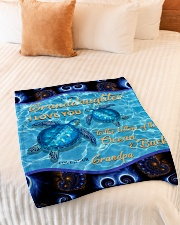 """I LOVE YOU - TO GRANDDAUGHTER FROM GRANDPA Small Fleece Blanket - 30"""" x 40"""" aos-coral-fleece-blanket-30x40-lifestyle-front-01"""