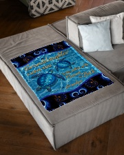 """I LOVE YOU - TO GRANDDAUGHTER FROM GRANDPA Small Fleece Blanket - 30"""" x 40"""" aos-coral-fleece-blanket-30x40-lifestyle-front-03"""