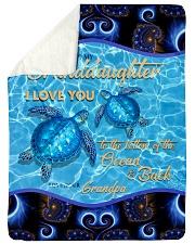 I LOVE YOU - TO GRANDDAUGHTER FROM GRANDPA Sherpa Fleece Blanket tile