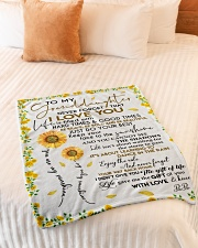 """I LOVE YOU - GREAT GIFT FOR GRANDDAUGHTER Small Fleece Blanket - 30"""" x 40"""" aos-coral-fleece-blanket-30x40-lifestyle-front-01"""