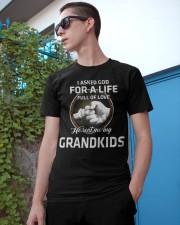 HE SENT ME MY GRANDKIDS - PERFECT GIFT FOR GRANDPA Classic T-Shirt apparel-classic-tshirt-lifestyle-17
