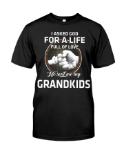 HE SENT ME MY GRANDKIDS - PERFECT GIFT FOR GRANDPA Classic T-Shirt front