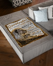 """I BELIEVE IN YOU - GREAT GIFT FOR GRANDDAUGHTER Small Fleece Blanket - 30"""" x 40"""" aos-coral-fleece-blanket-30x40-lifestyle-front-03"""