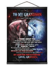 I THINK ABOUT YOU - BEST GIFT FOR GRANDSON 12x16 Black Hanging Canvas thumbnail