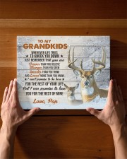 THE REST OF YOUR LIFE - BEST GIFT FOR GRANDSONS 14x11 Gallery Wrapped Canvas Prints aos-canvas-pgw-14x11-lifestyle-front-27