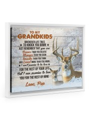 THE REST OF YOUR LIFE - BEST GIFT FOR GRANDSONS 14x11 White Floating Framed Canvas Prints thumbnail