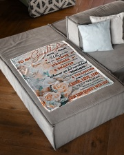 """BELIEVE IN YOURSELF - GRANDPA TO GRANDDAUGHTER Small Fleece Blanket - 30"""" x 40"""" aos-coral-fleece-blanket-30x40-lifestyle-front-03"""