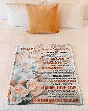 """BELIEVE IN YOURSELF - GRANDPA TO GRANDDAUGHTER Small Fleece Blanket - 30"""" x 40"""" aos-coral-fleece-blanket-30x40-lifestyle-front-04"""