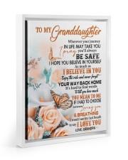 I LOVE YOU - LOVELY GIFT FOR GRANDDAUGHTER Floating Framed Canvas Prints White tile