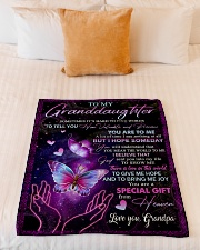 """HOW VALUABLE AND PRECIOUS YOU ARE TO ME Small Fleece Blanket - 30"""" x 40"""" aos-coral-fleece-blanket-30x40-lifestyle-front-04"""