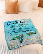 "BIG HUG - BEST GIFT FOR GRANDSON Small Fleece Blanket - 30"" x 40"" aos-coral-fleece-blanket-30x40-lifestyle-front-01"