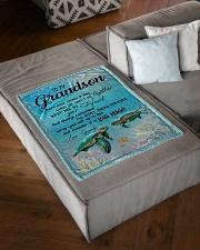 "BIG HUG - BEST GIFT FOR GRANDSON Small Fleece Blanket - 30"" x 40"" aos-coral-fleece-blanket-30x40-lifestyle-front-03"