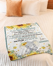 """THE BEAT OF MY HEART - BEST GIFT FOR GRANDDAUGHTER Small Fleece Blanket - 30"""" x 40"""" aos-coral-fleece-blanket-30x40-lifestyle-front-01"""