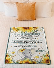 """THE BEAT OF MY HEART - BEST GIFT FOR GRANDDAUGHTER Small Fleece Blanket - 30"""" x 40"""" aos-coral-fleece-blanket-30x40-lifestyle-front-04"""