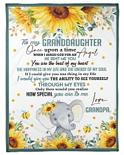 """THE BEAT OF MY HEART - BEST GIFT FOR GRANDDAUGHTER Small Fleece Blanket - 30"""" x 40"""" front"""