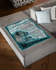 "NEVER FEEL THAT YOU ARE ALONE Small Fleece Blanket - 30"" x 40"" aos-coral-fleece-blanket-30x40-lifestyle-front-03"